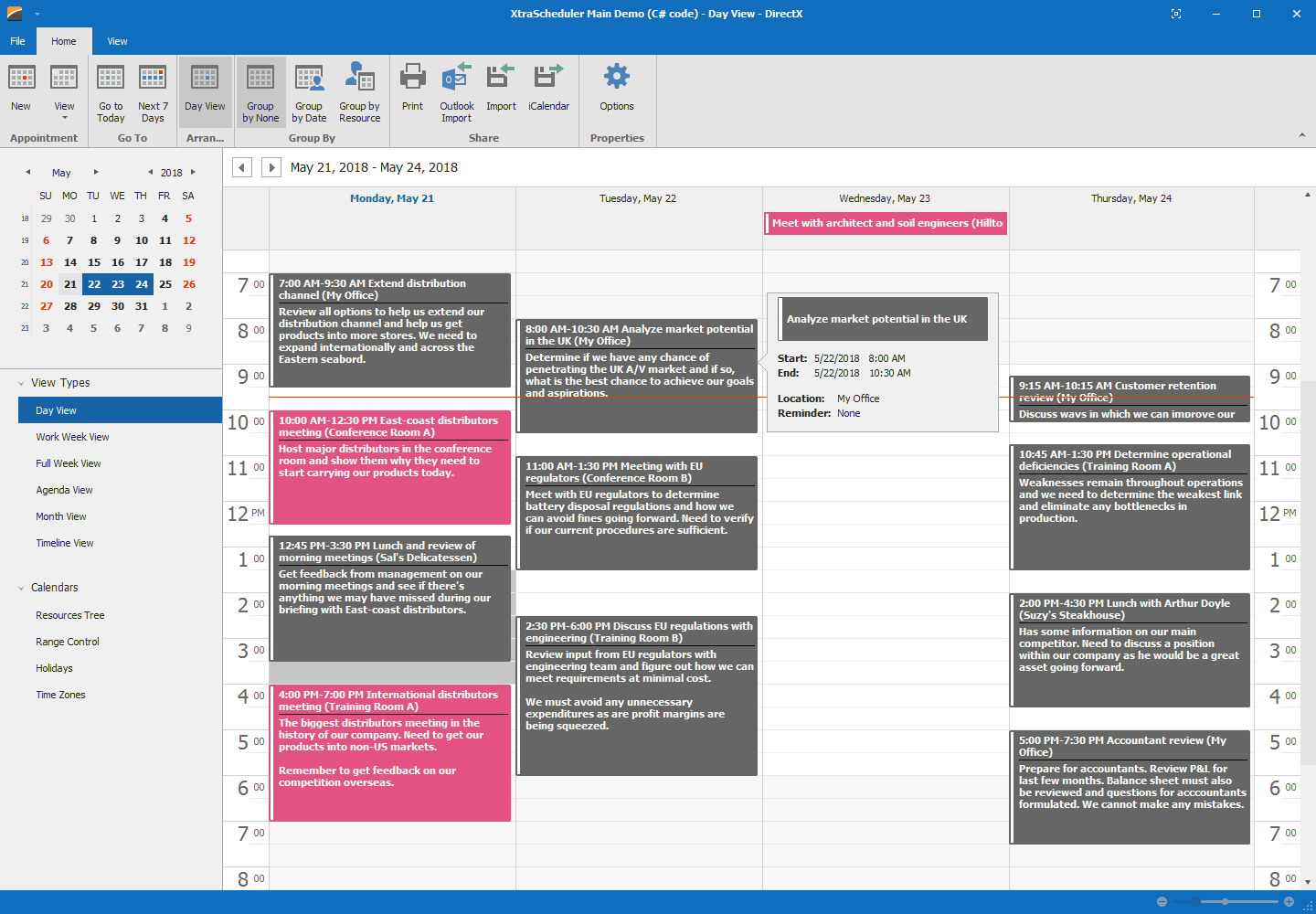 DevExpress WinForms Scheduler